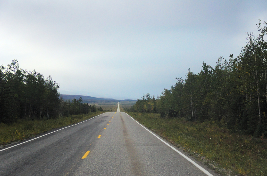 The Richardson Highway south of Delta Junction