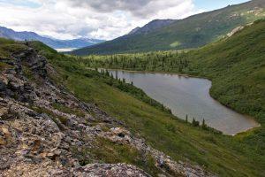Alpine pond in the Alaska Range