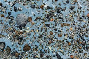 Rocks on the surface of College Glacier in the Hoodoo Mountains