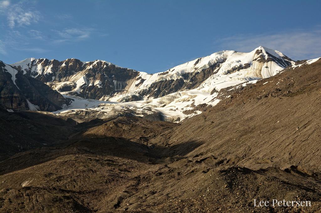 Mountains and small glacier near Triangle Peak
