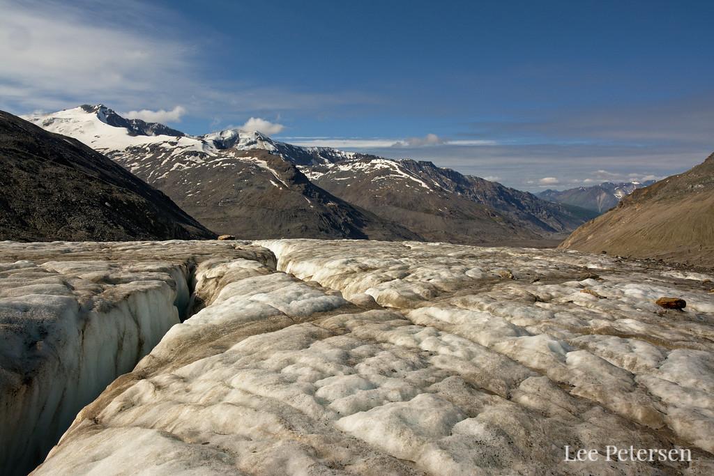 Crevasse on the Castner Glacier