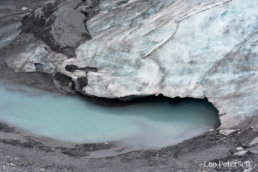 Outflow of water from under Exit Glacier